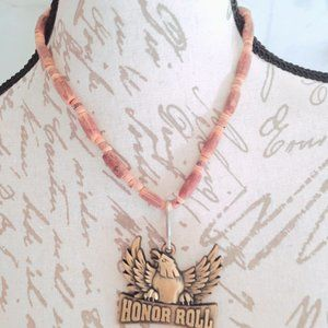 Honor Roll Bronze Necklace Wooden